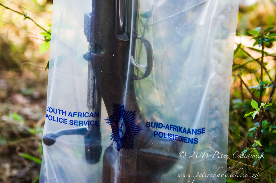 Poachers Rifle recovered by conservation rangers